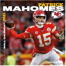 パトリック・マホームズ カレンダー NFL チーフス 2021年版 プレーヤー 壁掛け ポスターインテリア Turner クリスマスギフト