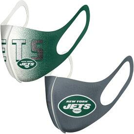 ジェッツ マスク NFL フェイスカバー 耳掛けタイプ 耳かけ 大人用 2枚組パック