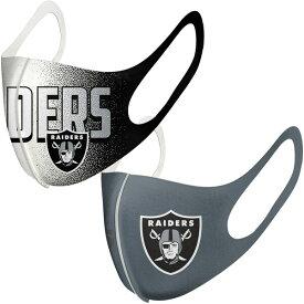 レイダース マスク NFL フェイスカバー 耳掛けタイプ 耳かけ 大人用 2枚組パック