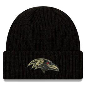 NFL ニットキャップ ニット帽 ニューエラ/New Era レイブンズ 2020 サルートトゥサービス ブラック