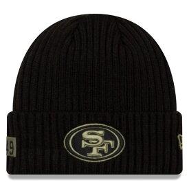NFL ニットキャップ ニット帽 ニューエラ/New Era 49ers 2020 サルートトゥサービス ブラック