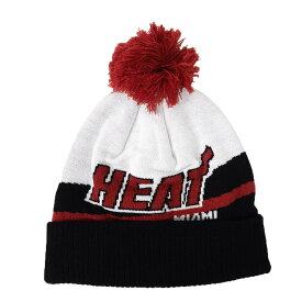 マイアミ・ヒート ニットキャップ ニット帽 NBA ハードウッドクラシックス ビーニー アディダス Adidas ホワイト