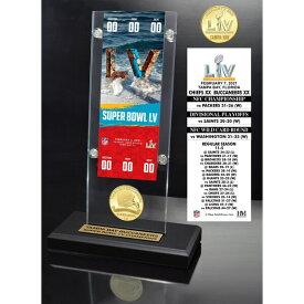 NFL バッカニアーズ グッズ 第55回スーパーボウル優勝記念 チケット ブロンズコイン アクリルディスプレイ Highland Mint SB55
