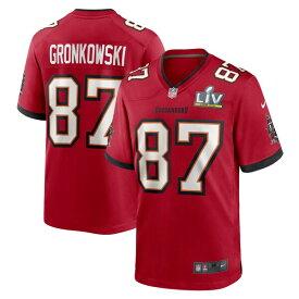 NFL ユニフォーム ロブ・グロンコウスキー バッカニアーズ ナイキ Nike レッド 第55回スーパーボウル記念パッチ付き メンズ 半袖 SB55