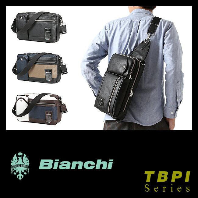 【まもなく終了!会員ランク+D4倍/P3倍/G2倍】ビアンキ ボディバッグ ショルダーバッグ クラッチバッグ ワンショルダー 3WAY Bianchi TBPI-06