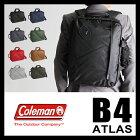 コールマン アトラス ビジネスバッグ 3WAY リュック ブリーフケース カジュアル ミッション 18L B4 メンズ COLEMAN ATLAS クリスマスプレゼント