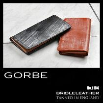 GORBE長財布ブライドルレザーメンズ1100