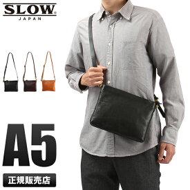 【楽天カード33倍(最大)|12/5限定】SLOW バッグ ショルダーバッグ サコッシュ メンズ 本革 スロウ ボーノ bono 49s148g