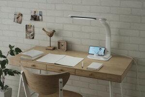 【アイリスオーヤマ】LEDデスクライト LDL-501RN-W  ホワイト(535775)【送料無料】(デスクライト,テーブルランプ,インテリア照明、スタンドライト)