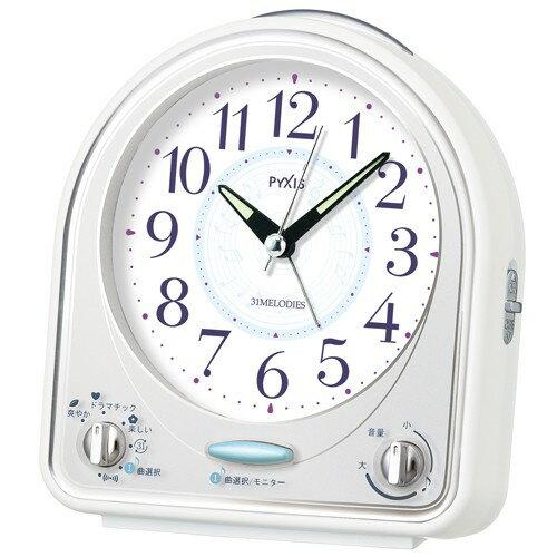 セイコー製ピクシス 目覚まし NR435W【送料無料】(置時計、目覚し時計、目覚時計、アラームクロック)super-seij-4890688s2