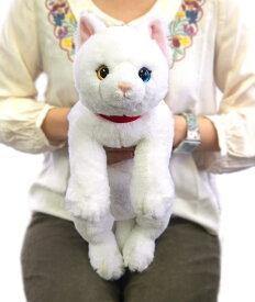 ひざねこ オッドアイWH (P-1832-1)【送料無料】(ねこ、ネコ、猫、ぬいぐるみ、人形、玩具、おもちゃ、キャラクターグッズ、プレゼントに最適)(楽天ランキング受賞・ぬいぐるみ ネコ2位、2017/6/14デイリー)