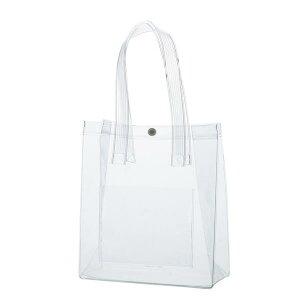 透明ビニールバッグ MK-2528 縦型タイプ 10枚 【送料無料】(プールバック、ショルダーバッグ、トートバッグ、手提げカバン、かばん、鞄)