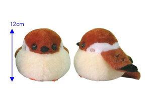 ふくふくスズメ ちゅんすけ ST 12cm (トリ、小鳥、人形、玩具、おもちゃ、ぬいぐるみ、キャラクターグッズ、プレゼントに最適)