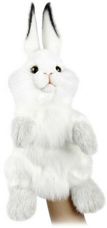 HANSA ハンドパペット シロウサギ 7156【送料無料】(うさぎ、ウサギ、兎、人形、玩具、おもちゃ、ぬいぐるみ、キャラクターグッズ、プレゼントに最適)