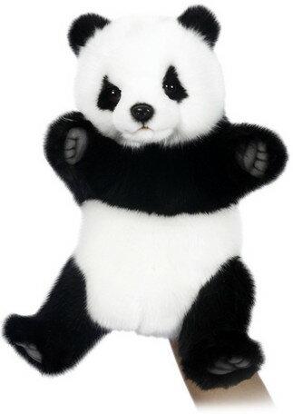 HANSA ハンドパペット ジャイアントパンダ 7165【送料無料】(パンダ、人形、玩具、おもちゃ、ぬいぐるみ、キャラクターグッズ、プレゼントに最適)(楽天ランキング受賞・ぬいぐるみ パペット3位、2017/12/24デイリー)SP180602