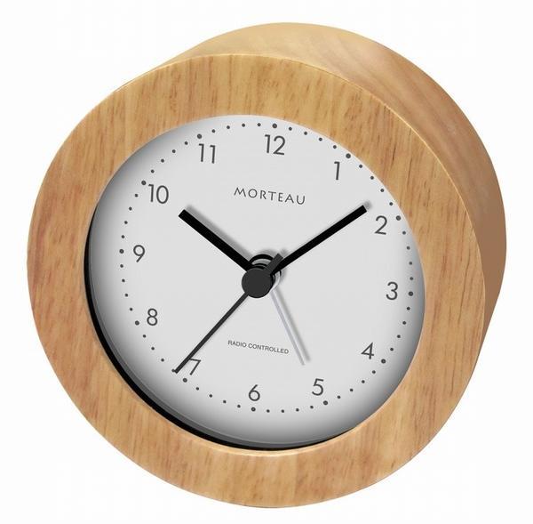 ウッド電波クロック【Morteau (モルトー)】(RW-018)【送料無料】(置時計、目覚し時計、目覚時計、電波時計、アラームクロック)(楽天ランキング受賞・目覚まし時計その他4位、2016/11/18デイリー)