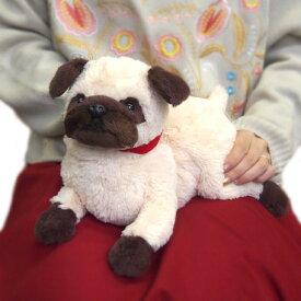 ひざわんこパグ (P-4162)(犬、いぬ、イヌ、ぬいぐるみ、人形、玩具、おもちゃ、キャラクターグッズ、プレゼントに最適)