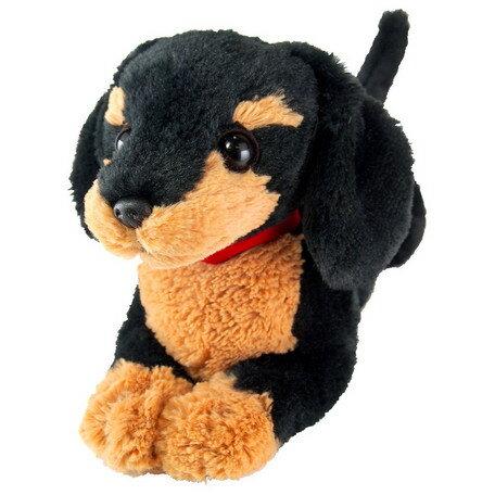 ひざわんこ ミニチュアダックスBK(P-3012)(犬、いぬ、イヌ、ぬいぐるみ、人形、玩具、おもちゃ、キャラクターグッズ、プレゼントに最適)