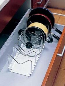 【フライパンなど出し入れしやすい 】ワイドタイプ 60〜90cm PFN-69【送料無料】(キッチン収納、キッチンラック、フライパンラック)