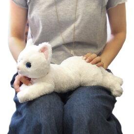 ひざねこ オッドアイWH  Sサイズ(P-1982-1)【送料無料】(ねこ、ネコ、猫、ぬいぐるみ、人形、玩具、おもちゃ、キャラクターグッズ、プレゼントに最適)(楽天ランキング受賞・ぬいぐるみ ネコ6位、2017/7/7デイリー)