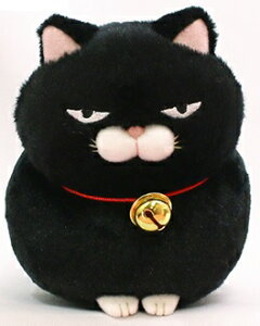 ひげまんじゅう ST 黒豆 約13cm  (ネコ、ねこ、猫、キャット、人形、玩具、おもちゃ、ぬいぐるみ、キャラクターグッズ、プレゼントに最適)(楽天ランキング受賞・ぬいぐるみ ネコ4位
