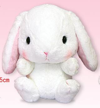ぽてうさろっぴーBIG しろっぴー 35cm 【送料無料】(うさぎ、ウサギ、兎、人形、玩具、おもちゃ、ぬいぐるみ 、キャラクターグッズ)(楽天ランキング受賞・ぬいぐるみ