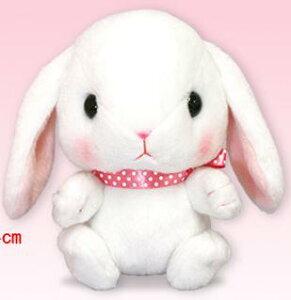 ぽてうさろっぴー しろっぴー ST 14cm (うさぎ、ウサギ、兎、人形、玩具、おもちゃ、ぬいぐるみ、キャラクターグッズ)