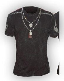 【THE SAINTS SINPHONY/セインツシンフォニー】WHISKY DOUBLE・Tシャツ(半袖・クルーネック・ブラック・BLK)/メンズ【インポート】【セレカジ】【正規品】