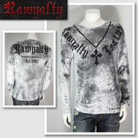 【RAWYALTY/ロウヤルティ】ネックレスモチーフロングTシャツ(グレー・GRY)/メンズ【インポート】【セレカジ】【正規品】