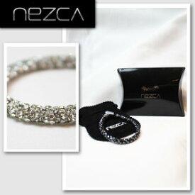 【nezca/ネズカ】【メンズ】スワロフスキーブレスレット(ミラーブラック/ブラッククリスタル/クリスタル/ツイードマルチ/BM7)/ループ幅7mm 【インポート】【セレカジ】【正規品】