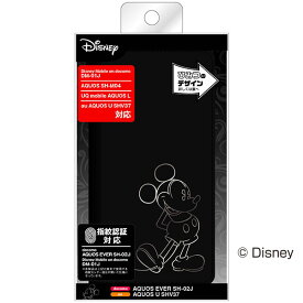 AQUOS SH-M04 SH-M04-A EVER SH-02J U SHV37 L UQ mobile Disney mobile DM-01J ケース 手帳型 ディズニー ホットスタンプ ミッキー