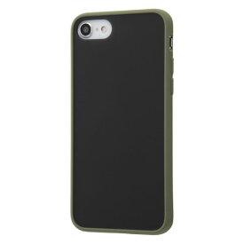 iPhone SE 第2世代 SE2 iPhone 8 7 ケース ハードケース 耐衝撃 マットハイブリッド Sarafit カーキ グリーン