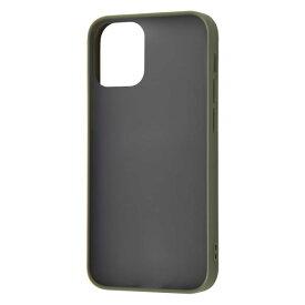 iPhone12mini ケース ハードケース マット 耐衝撃 ハイブリッド Sarafit カーキ・グリーン カバー アイホン スマホケース