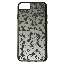 【楽天スーパーSALE】 iPhone 8Plus / 7Plus / 6sPlus / 6Plus ケース ハードケース CuVery くっつくケース 保護 カバー パンダ panda 迷彩 濃い グレー