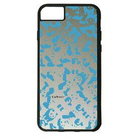 【楽天スーパーSALE】 iPhone 8Plus / 7Plus / 6sPlus / 6Plus ケース ハードケース CuVery くっつくケース 保護 カバー パンダ panda 迷彩 スカイ ブルー
