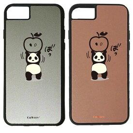 【楽天スーパーSALE】 iPhone 8Plus / 7Plus / 6sPlus / 6Plus ケース ハードケース CuVery くっつくケース 保護 カバー パンダ アップル 重量挙げ 努力感