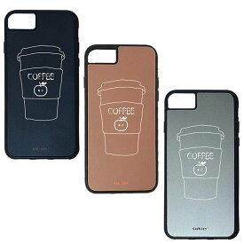 【楽天スーパーSALE】 iPhone 8Plus / 7Plus / 6sPlus / 6Plus ケース ハードケース CuVery くっつくケース 保護 カバー りんご コーヒー