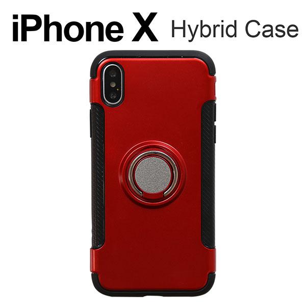iPhone XS X ケース リング付き耐衝撃ケース アイフォン テン カバー スマホケース
