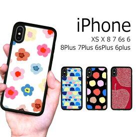 iPhone XS X 8 8Plus 7 7Plus 6s 6sPlus 6 6Plus ケース ソフトケース 耐衝撃 北欧 水彩 花柄 手描き カバー アイフォン スマホケース