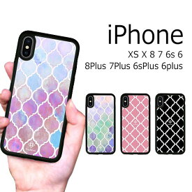 iPhone XS X 8 8Plus 7 7Plus 6s 6sPlus 6 6Plus ケース ソフトケース 耐衝撃 モロッカン エスニック 西海岸 カバー アイフォン スマホケース