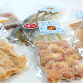 【送料込み】高山食品 さんま、いか、鶏肉、豚肉のぬか漬と自家製いか塩辛のセット×2P 産地直送