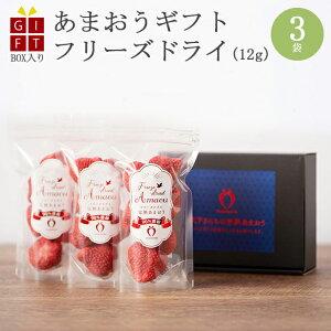 小分けギフト 冷凍完熟あまおう イチゴ フリーズドライ 36g(12g×3袋) 苺 福岡県産 産地直送 プレゼント