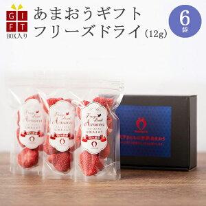 小分けギフト 冷凍完熟あまおう イチゴ フリーズドライ 72g(12g×6袋) 苺 福岡県産 産地直送 プレゼント