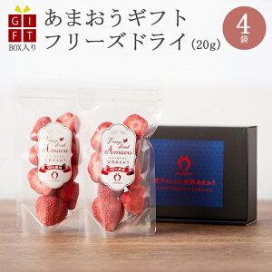 ギフト 冷凍完熟あまおう イチゴ フリーズドライ 80g(20g×4袋) 苺 福岡県産 産地直送 プレゼント