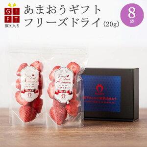 ギフト 冷凍完熟あまおう イチゴ フリーズドライ 160g(20g×8袋) 苺 福岡県産 産地直送 プレゼント