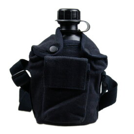 ROTHCO(ロスコ) Bush Craft inc. キャンティーンカップ カバー(ショルダーストラップ) BLACK(ブラック) 水筒カバー 0613902006140 ブッシュクラフト キャンプ アウトドア 防災用 湯たんぽ ソロキャンプ(おうちキャンプ)