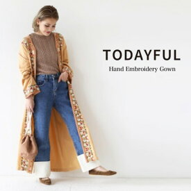 SALE40%OFF TODAYFUL トゥデイフル Hand Embroidery Gown ハンド刺繍ガウン 11810003