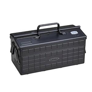 TOYO STEEL 東洋スチール 通販 小型2段式ツールボックス ST-350 BK ブラック キャンプ ギア収納 釣り具収納 工具箱 ソーイングボックス 裁縫箱 薬箱 日本製 ギフトにオススメ セレクト雑貨ムー