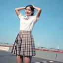 セーラー服 コスプレ 長袖 半袖 女の子 学生服 チェック柄 スカート 入学式 卒業式 スーツ ミニスカート 女子高生 …