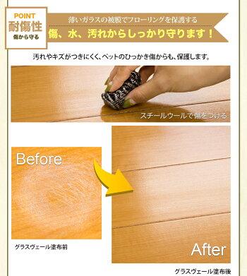 【床コーティング送料無料】グラスヴェールフロアコーティング25ml(約6畳用)フロアコーティング新生活引越しフローリング床掃除大掃除保護ガラスコーティングコーティング剤ワックスフローリングワックス床用